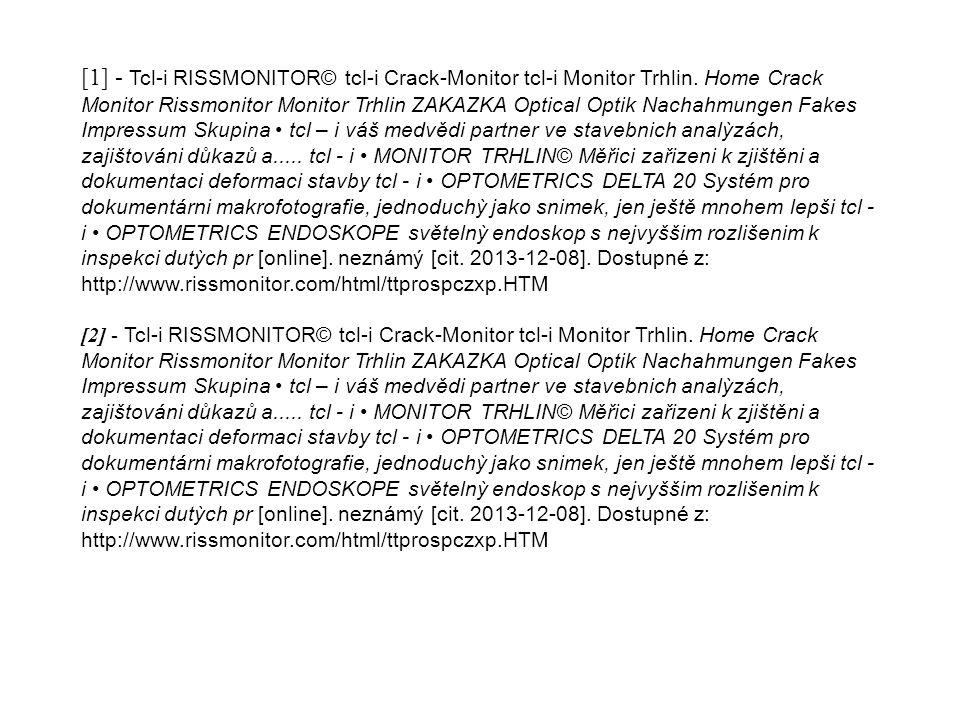 [1] - Tcl-i RISSMONITOR© tcl-i Crack-Monitor tcl-i Monitor Trhlin